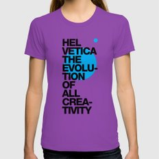 Helveti/ca I Womens Fitted Tee Ultraviolet SMALL