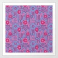 Violet Pink Pattern Art Print