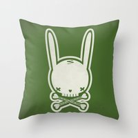 SKULL BUNNY of PIRATE - EP02 MOSS V. Throw Pillow