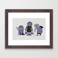 Superheroes! Framed Art Print