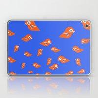 Pretty Orange Birds Laptop & iPad Skin