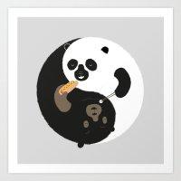Yin-Yank Art Print