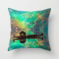 THE AFRICAN BOAT IN THE … Throw Pillow