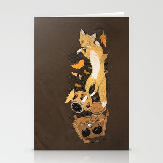 Jumping Fox Stationery Card