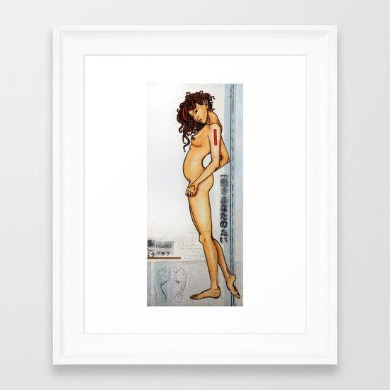 Standing still II Framed Art Print