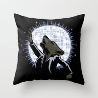 Howling at the Disco Moon Throw Pillow