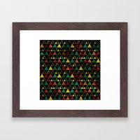Hills & Trees at night Framed Art Print