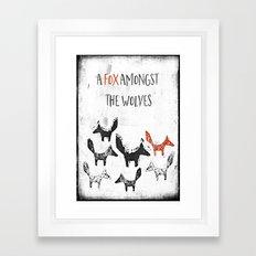 A fox amongst the wolves Framed Art Print