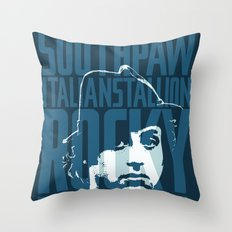 Rocky Balboa Minimal Vector Film Poster Throw Pillow