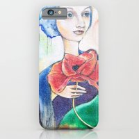 iPhone & iPod Case featuring painted lady by kmsalvatore