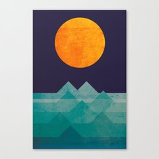 The Ocean, The Sea, The … Canvas Print