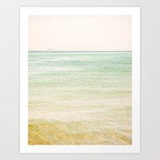 Nautical Red Sailboat Art Print