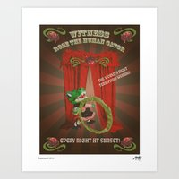 Rose The Human Gator Art Print
