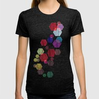 C13 construct hex v2 Womens Fitted Tee Tri-Black SMALL