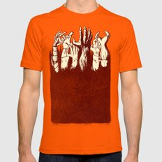 the Uprising Mens Fitted Tee Orange SMALL