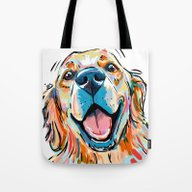 Smiling Golden Retriever Tote Bag