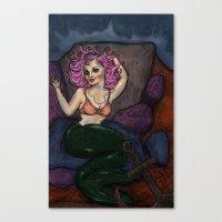 Pin Up Mermaid Canvas Print