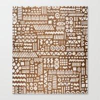 Northwoods Pattern. Canvas Print