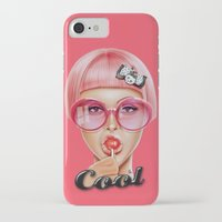 lips iPhone & iPod Cases featuring Cool Redux by Giulio Rossi