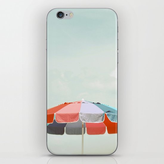 beach umbrella iPhone & iPod Skin