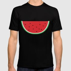 Watermelon Fisher Black SMALL Mens Fitted Tee