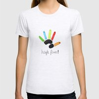 High Five! Womens Fitted Tee Ash Grey SMALL