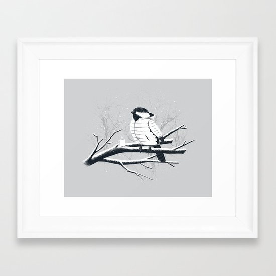 North For The Winter (Gray). Framed Art Print