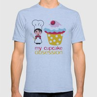 Cupcake obsession Mens Fitted Tee Athletic Blue SMALL