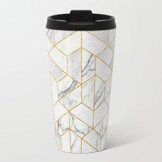 Marble hexagonal pattern Travel Mug