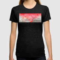 Gliding in Rio's sky. Womens Fitted Tee Tri-Black SMALL