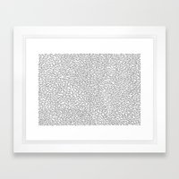 Sperm Pattern Framed Art Print