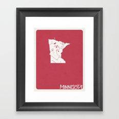 Minnesota Minimalist Vin… Framed Art Print