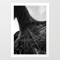 eiffel Art Prints featuring Eiffel by Tom Radenz