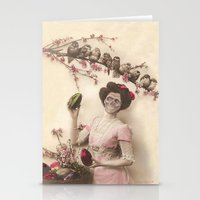 Mademoiselle skull Stationery Cards