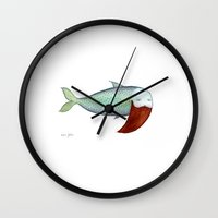 Fish With Beard Wall Clock