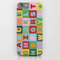 iPhone & iPod Case featuring Alphabet by Project M