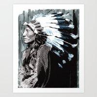 Native American Chief 2 Art Print