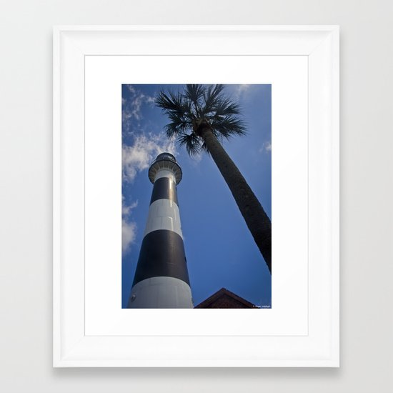 Cape Canaveral Lighthouse Framed Art Print
