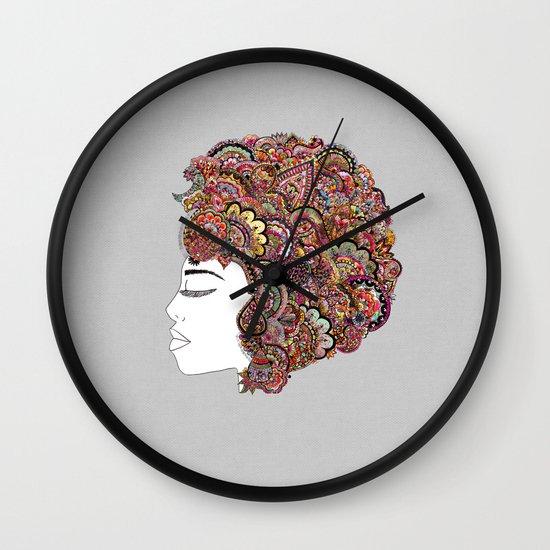 Her Hair - Les Fleur Edition Wall Clock