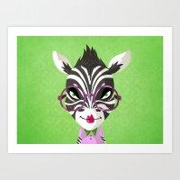 Sassy Zebra Art Print