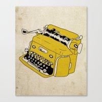 Grunge Typewriter Canvas Print