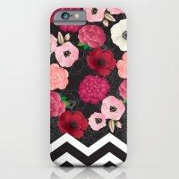 Chevron Flowers iPhone 6 Slim Case