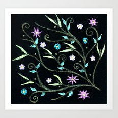 Flowering midnight Art Print