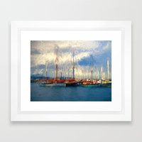 Waiting To Sail Framed Art Print