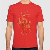 Fire Invention Month Mens Fitted Tee Red SMALL