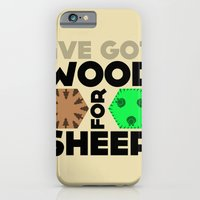 iPhone & iPod Case featuring Wood for Sheep (Catan series) by Itomi Bhaa
