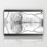 Hairy Torso - White Laptop & iPad Skin