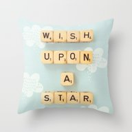 Throw Pillow featuring Wish Upon A Star by Happeemonkee