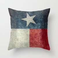 Texas State Flag, Vertic… Throw Pillow