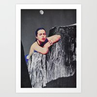 Moon Bathing Art Print